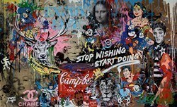 Stop Wishing, Start Doing II by Yuvi -  sized 67x41 inches. Available from Whitewall Galleries